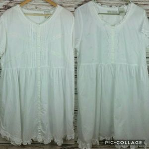 Lot of Two Laura Ashley XL Cotton Heirloom Gowns